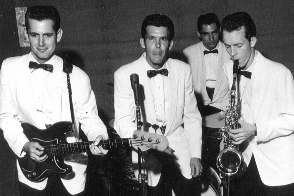 The Fairlaines, featuring Rick Hall on bass and Billy Sherrill on saxophone. (Photo courtesy of FAME Studios.)