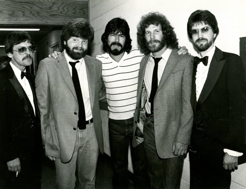 Terry Woodford, Mac McAnally, Randy Owen, Donny Lowery and Kevin Lamb. (Photo courtesy of Terry Woodford.)